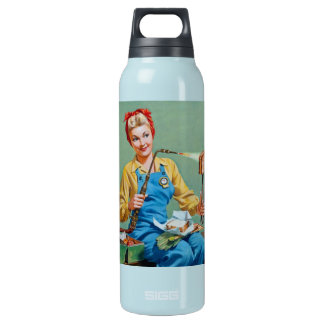 Rosie the Riveter Makes Toasted Cheese Insulated Water Bottle
