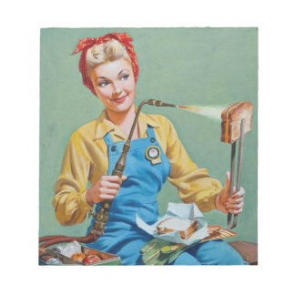 Rosie the Riveter Makes Toasted Cheese Notepad