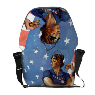 """Rosie the Riveter"" Courier Bag"