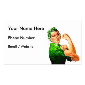 Rosie The Riveter - Military Support Double-Sided Standard Business Cards (Pack Of 100)