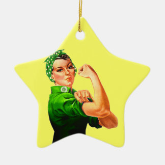 Rosie The Riveter - Military Support Ceramic Ornament