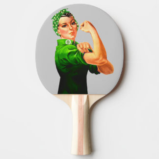 Rosie The Riveter - Military Support Ping Pong Paddle