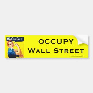 Rosie the Riveter OWS bumpersticker Bumper Sticker
