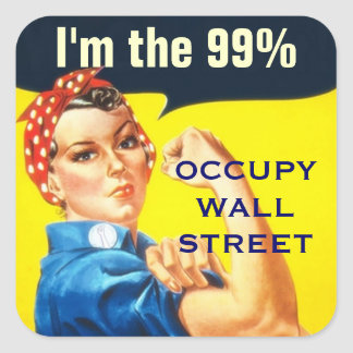Rosie the Riveter OWS sticker