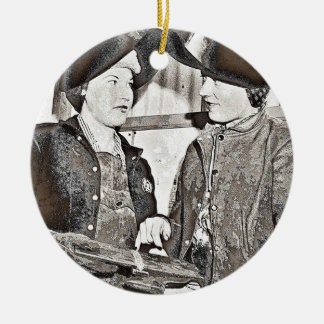 Rosie the Riveter Pals Ceramic Ornament