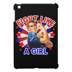 Rosie The Riveter Patriotic Fight Like a Girl Case For The iPad Mini