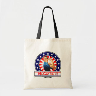 Rosie the Riveter Patriotic We Can Do It Budget Tote Bag