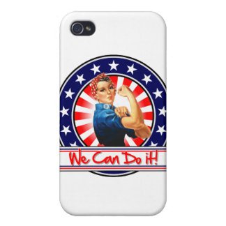 Rosie the Riveter Patriotic We Can Do It Covers For iPhone 4