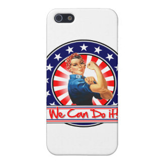 Rosie the Riveter Patriotic We Can Do It Case For iPhone 5