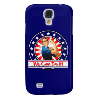 Rosie the Riveter Patriotic We Can Do It Samsung Galaxy S4 Cases