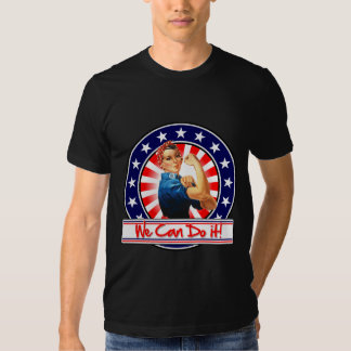 Rosie the Riveter Patriotic We Can Do It Shirts