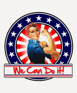 Rosie the Riveter Patriotic We Can Do It T-shirt