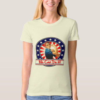 Rosie the Riveter Patriotic We Can Do It T Shirts