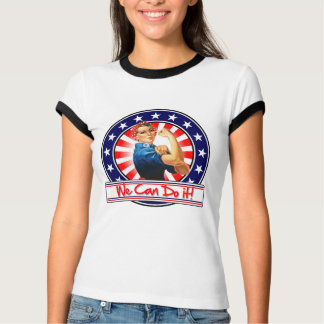 Rosie the Riveter Patriotic We Can Do It Tee Shirts