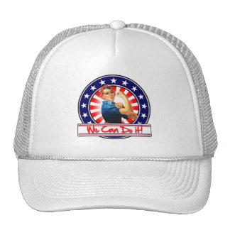 Rosie the Riveter Patriotic We Can Do It Trucker Hat