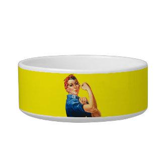 Rosie the Riveter Pet Bowl Cat Water Bowl