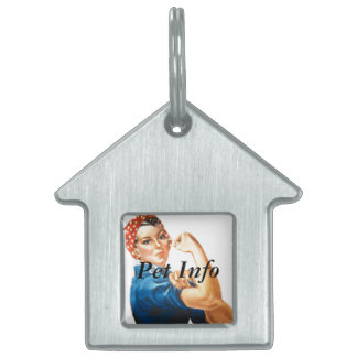 Rosie the Riveter Pet Tags