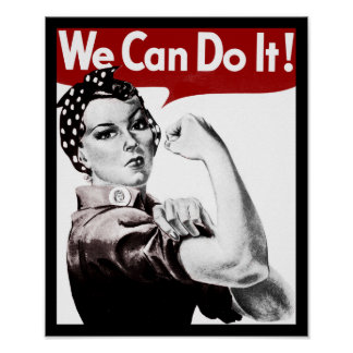 Rosie the Riveter Poster Posters