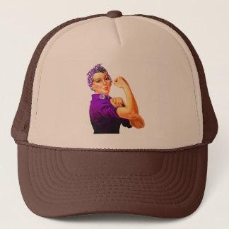 Rosie The Riveter - Purple Fibromyalgia Trucker Hat