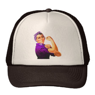 Rosie The Riveter - Purple Fibromyalgia Trucker Hat