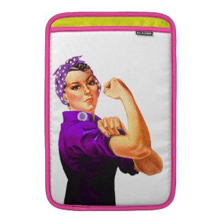Rosie The Riveter - Purple MacBook Sleeve