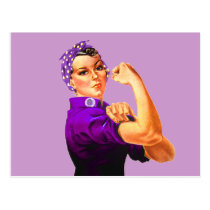 Rosie The Riveter - Purple Postcard