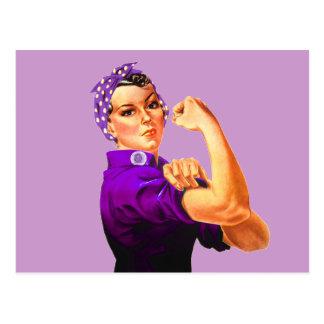 Rosie The Riveter - Purple Postcard