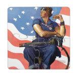 Rosie the Riveter Puzzle Coaster