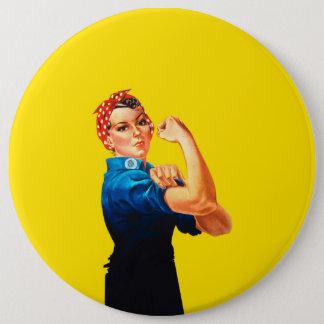 Rosie The Riveter Retro Design Style Button
