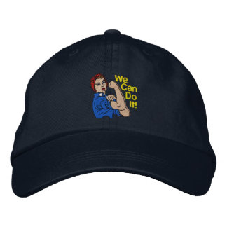 Rosie The Riveter Retro Style Embroidery Embroidered Baseball Cap