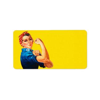 Rosie The Riveter Retro Style Icon Label