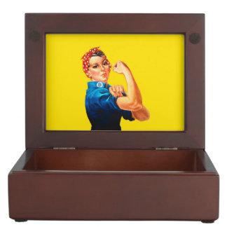 Rosie The Riveter Retro Style Icon Memory Box