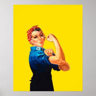 Rosie The Riveter Retro Style Icon Poster