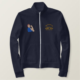 Rosie The Riveter Retro Style with Your Text Embroidered Jacket