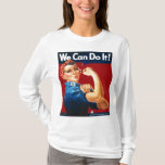Rosie the Riveter Solid Red T-Shirt