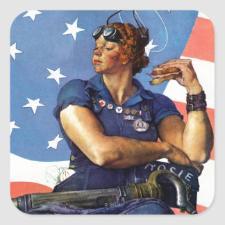 """Rosie the Riveter"" Square Sticker"