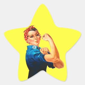 Rosie the Riveter Star Sticker