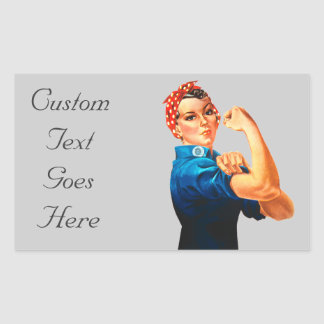 Rosie the Riveter Rectangular Sticker