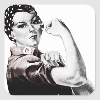 Rosie the Riveter Stickers Square Sticker