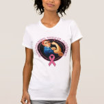 Rosie The Riveter Stronger Than Breast Cancer Tee Shirt