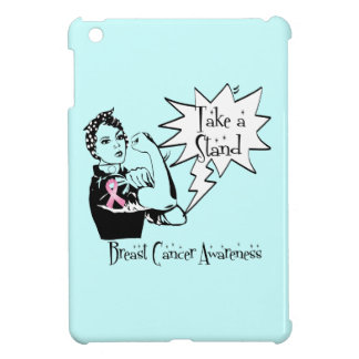 Rosie The Riveter Take a Stand Breast Cancer iPad Mini Cases
