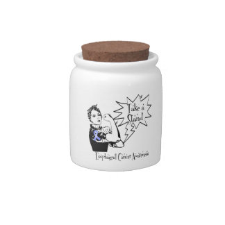 Rosie The Riveter Take a Stand Esophageal Cancer Candy Dish