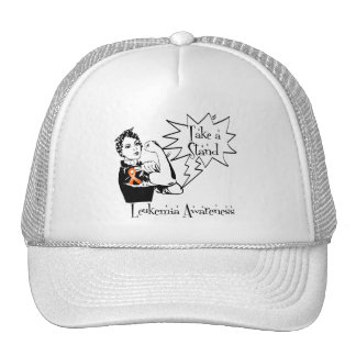 Rosie The Riveter Take a Stand Leukemia Trucker Hat