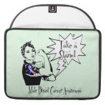 Rosie The Riveter Take a Stand Male Breast Cancer MacBook Pro Sleeves
