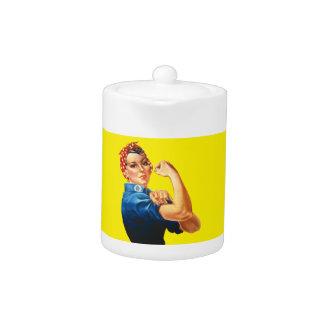 Rosie the Riveter Teapot