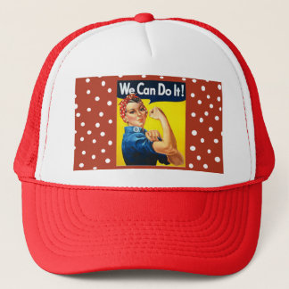 Rosie the Riveter Trucker Hat