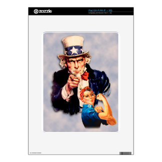 Rosie the Riveter & Uncle Sam design Decal For iPad