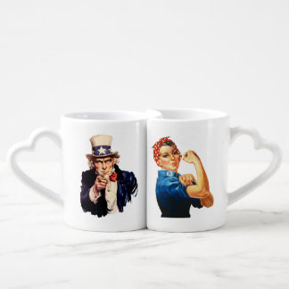 Rosie the Riveter & Uncle Sam, Lover's mug set