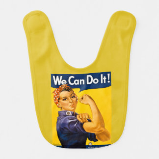 Rosie the Riveter Vintage We Can Do It! Baby Bib