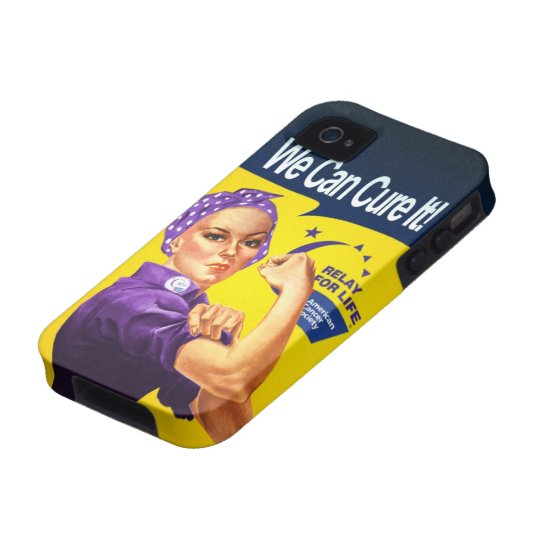 "Rosie the Riveter ""We can cure it!"" Case-Mate iPhone 4 Cover"